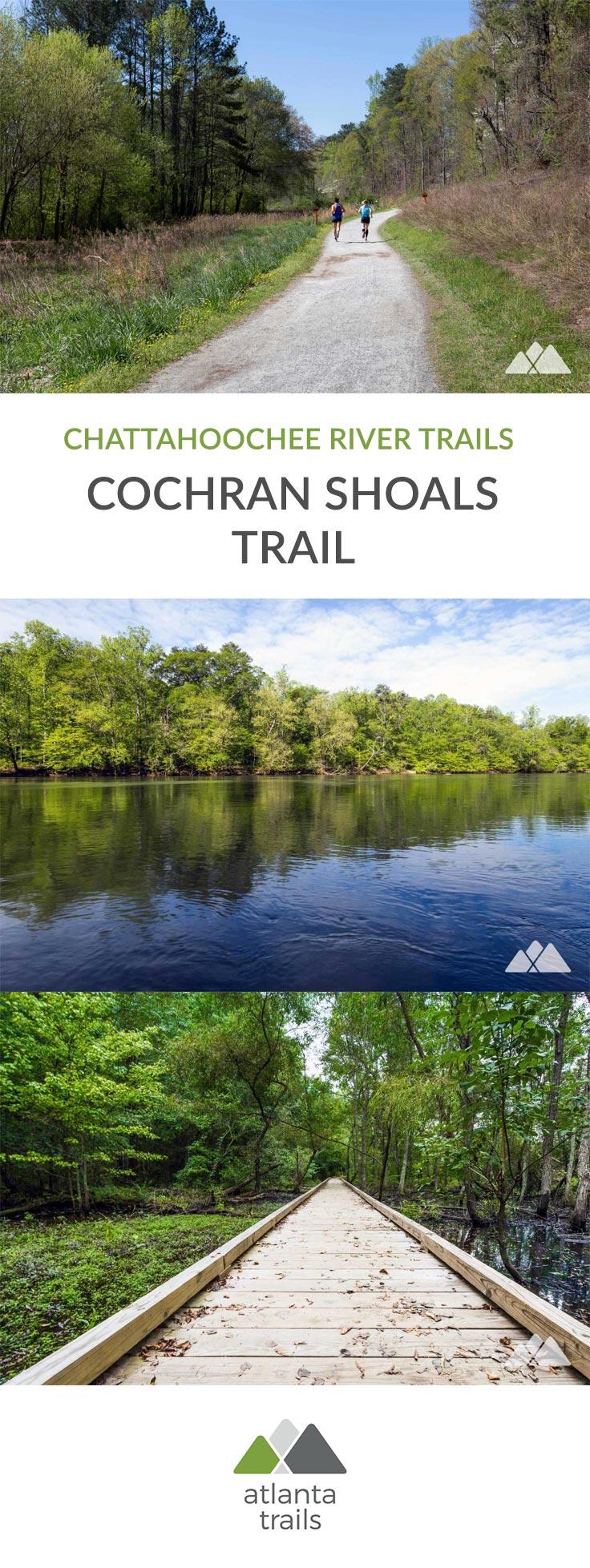Faites de la randonnée, marchez, courez ou faites du vélo sur les sentiers pittoresques du parc Cochran Shoals, admirez la vue imprenable sur la rivière Chattahoochee et explorez les bois et les marais pittoresques.  C'est l'un des sentiers les plus populaires d'Atlanta, et il est également idéal pour une promenade du dimanche ou pour faire quelques boucles d'entraînement de 5 km.  #running #trailrunning #atlanta #georgia #travel #outdoors #aventure