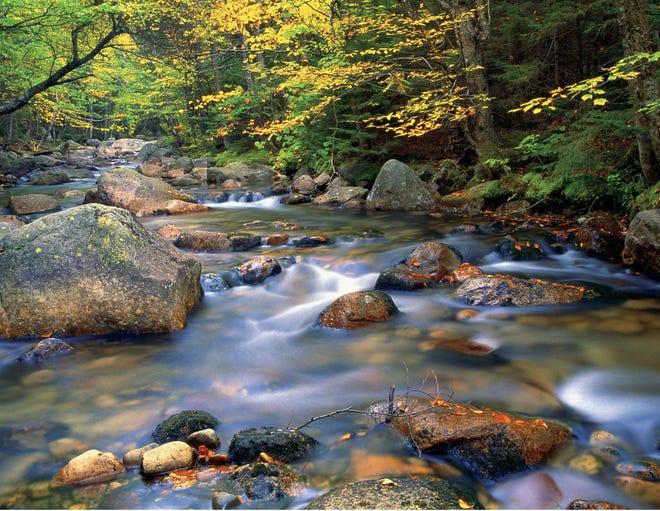 Le mont Katahdin, dans le Maine, à Baxter State Park est le terminus nord du sentier des Appalaches
