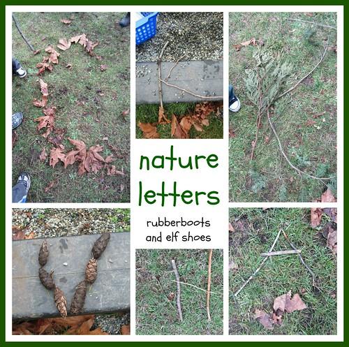 Lettres de la nature (photo de bottes en caoutchouc et chaussures d'elfe)