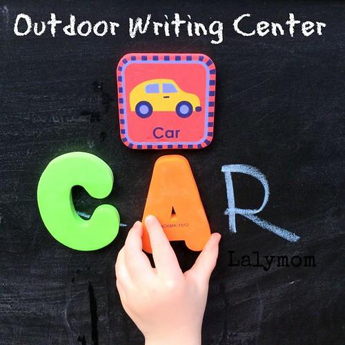Centre d'écriture extérieur (photo de Lalymom)