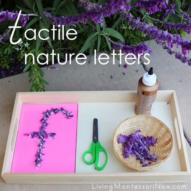 Lettres de la nature tactile avec imprimable gratuit