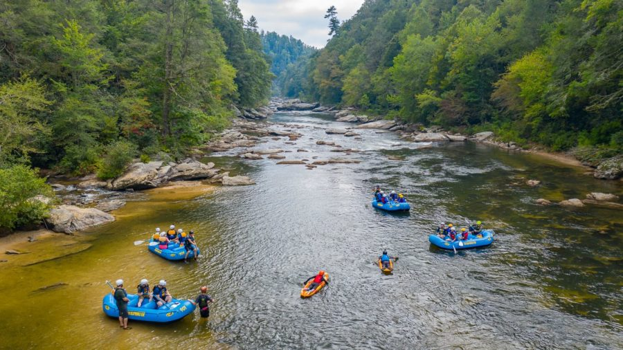 Rafting sur la rivière Chattooga, une destination de voyage en plein air