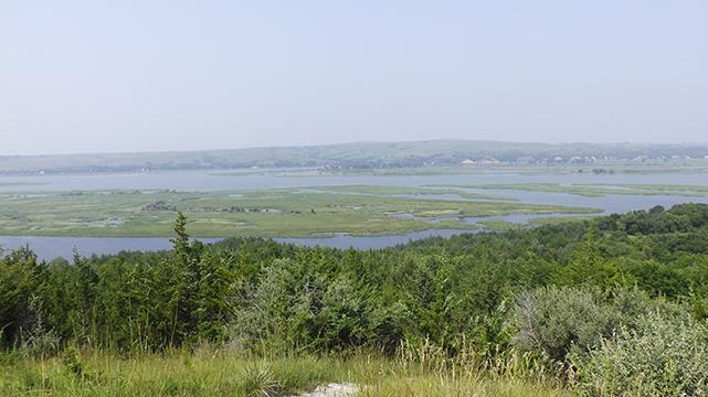 Vue panoramique sur le parc d'État de Niobrara