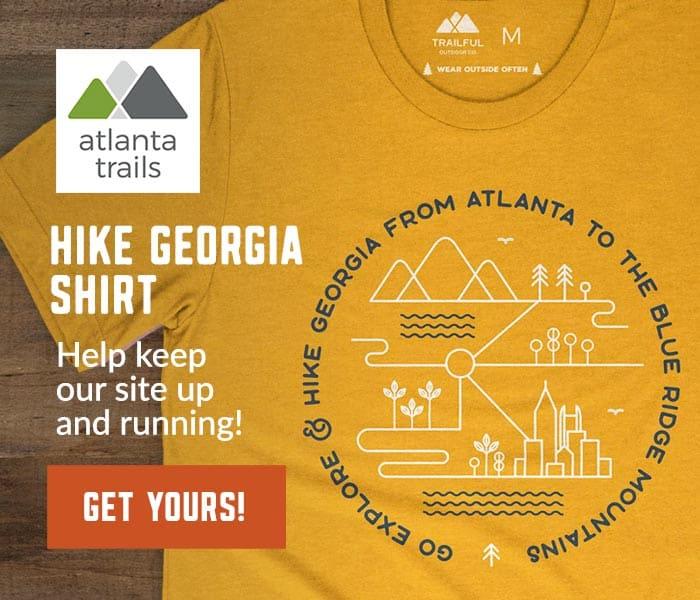 Chemise Atlanta Trails Go Explore & Hike Georgia - Moutarde