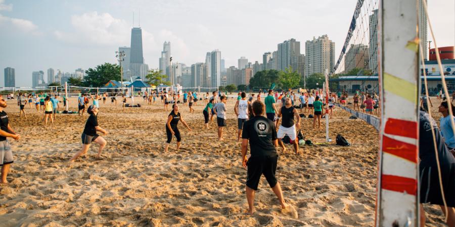 guide de plage de chicago volleyball